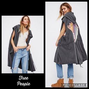 Free People Oversized Sterling Vest Hoodie